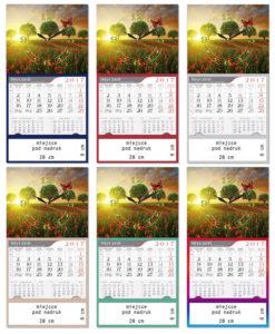kalendarze trojdzielne z zegarem 2019